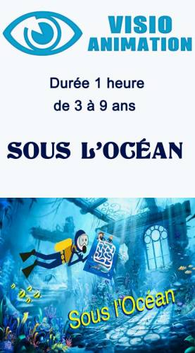 "Animation enfant anniversaire Visio animation  3/8 ans  1 heure ""sous l 'océan"" Ribambelle"