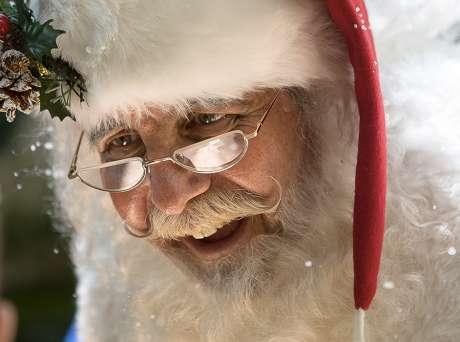 Père Noël en centre commercial